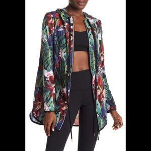 ❤️❤️ C & C California Lightweight Floral ZipJacket